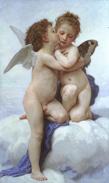 『アモールとプシュケー、子供たち』 ウィリアム・ブグロー 1890年 個人蔵