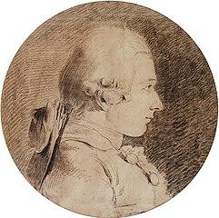 1760年、19-20歳頃のサド侯爵 シャルル=アメデー=フィリップ・ヴァン・ロー
