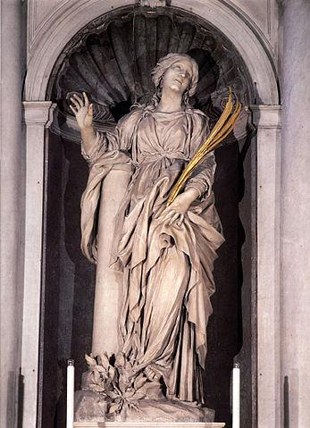 『聖女ビビアーナ像』 ベルニーニ 1626年 サンタ・ビビアーナ教会