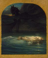 『若き殉教者』 ポール・ドラローシュ 1853年 エルミタージュ美術館蔵