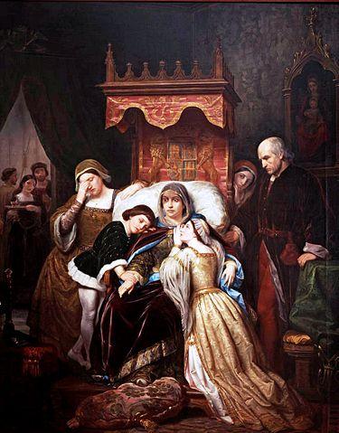 『イサベルの母の狂気』 1855年 ペレグリ・クラベ・ロケ