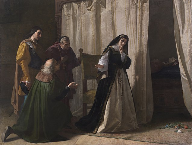 『ドニャ・フアナの精神錯乱』 ロレンソ・バリェス 1866年 プラド美術館蔵