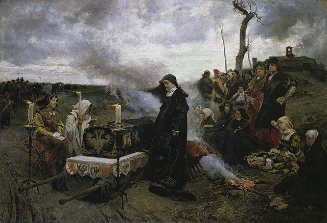 『狂女王フアナ』 フランシスコ・プラディーリャ 1877年 プラド美術館蔵