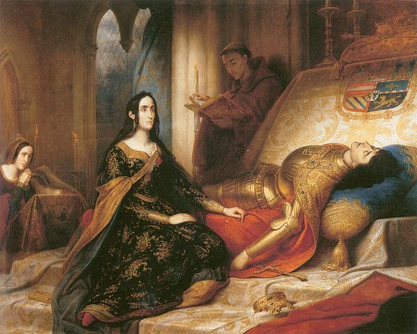 『狂女王フアナ』 シャルル・ド・スチューベン 1836年 プラド美術館蔵