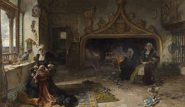 『幽閉中のフアナ』 1906年 フランシスコ・プラディーリャ
