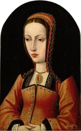 カスティーリャ女王フアナ 1495-1496頃 美術史美術館蔵