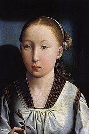 王女時代のカタリナ(キャサリン・オブ・アラゴン) 1496年頃 フアン・デ・フランデス