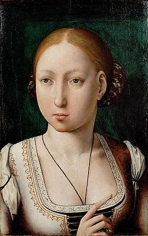 1500年頃に描かれたフアナ フアン・デ・フランデス 美術史美術館蔵