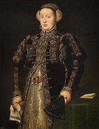 ポルトガル王妃カタリナ(カタリナ・デ・アウストリア) 1552年頃~1553年頃 プラド美術館蔵