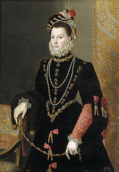 エリザベート・ド・ヴァロワ(イサベル・デ・バロイス) 1605年 フアン・パントーハ・デ・ラ・クルス プラド美術館蔵