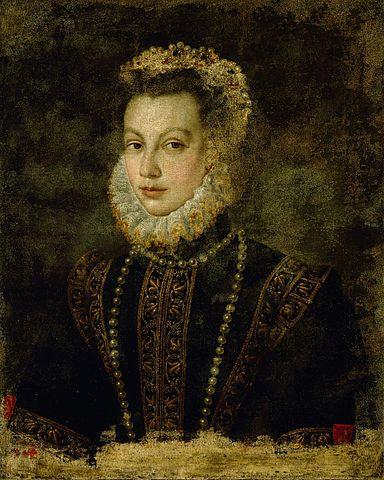 エリザベート・ド・ヴァロワ 1599年頃 ソフォニスバ・アングイッソラ 美術史美術館蔵