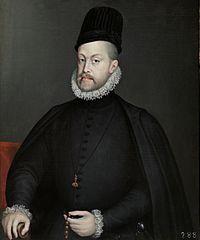 フェリペ2世 1573年 ソフォニスバ・アングイッソラ プラド美術館蔵