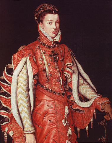 エリザベート・ド・ヴァロワ 1560年 アントニス・モル Várez Fisa Collection, マドリッド