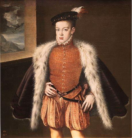 ドン・カルロス・デ・アウストリア 1555年頃~1559年頃 アロンソ・サンチェス・コエリョ プラド美術館蔵