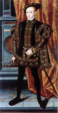 ヘンリー8世の息子・エドワード6世(1537年10月12日 - 1553年7月6日)