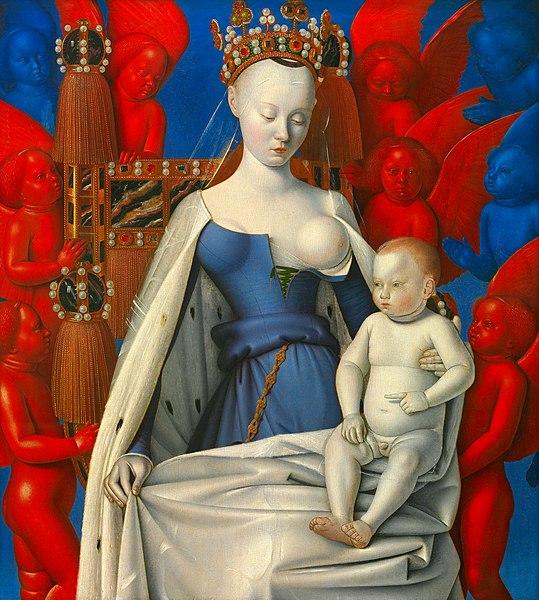 『ムランの聖母子』 1450年代前半 ジャン・フーケ ベルギー、アントワープ王立美術館蔵
