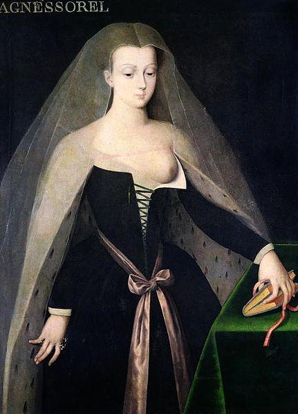 アニェス・ソレル 16世紀 画家不詳 個人蔵