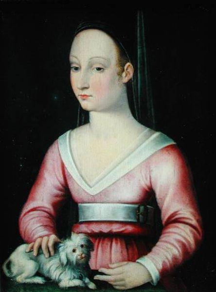 アニェス・ソレル 16世紀 画家不詳 フランス、アンジェ美術館蔵