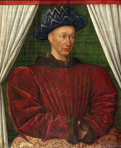 フランス王シャルル7世の肖像 1444年から1450年の間 ジャン・フーケ ルーヴル美術館蔵