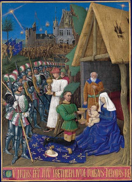 『三賢者の礼拝』(1460年以前) 『エティエンヌ・シュヴァリエの時祷書』のミニアチュール
