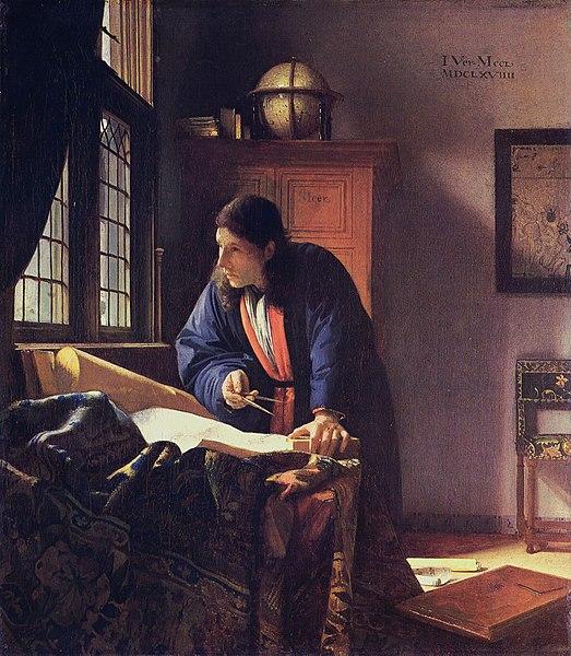 『地理学者』 1669年 ヨハネス・フェルメール シュテーデル美術館蔵