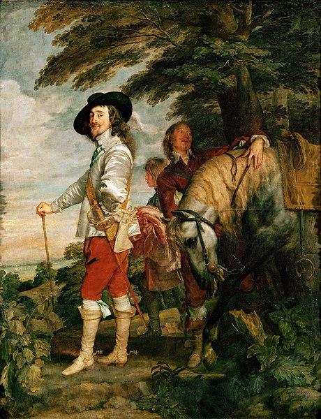 『狩場のチャールズ1世』 1635年頃 アントニー・ヴァン・ダイク ルーヴル美術館蔵