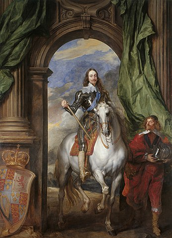 『馬上のチャールズ1世』 1633年 ヴァン・ダイク ロイヤル・コレクション蔵