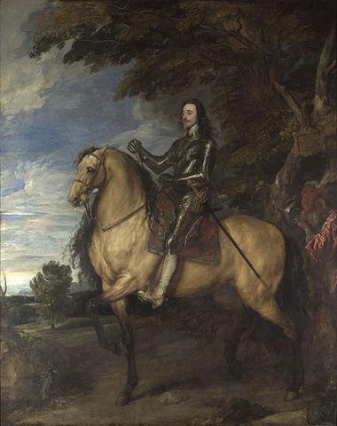 『チャールズ1世騎馬像』 1638年頃 ヴァン・ダイク ナショナル・ギャラリー蔵