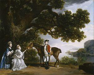 『ポクリング大尉とその家族』 1769年 ジョージ・スタッブズ ワシントン、ナショナル・ギャラリー・オブ・アート蔵