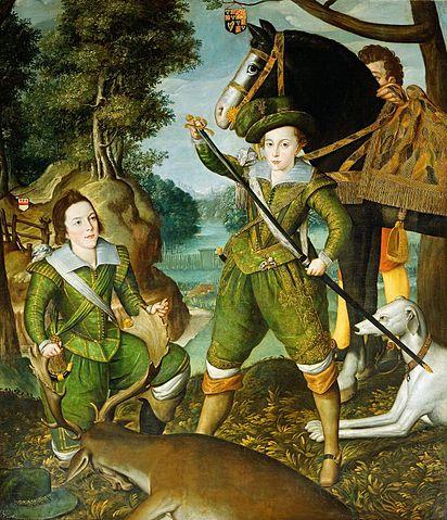 『皇太子ヘンリー・フレデリク』 1610年 ロバート・ピーク(父)? ロイヤルコレクション蔵