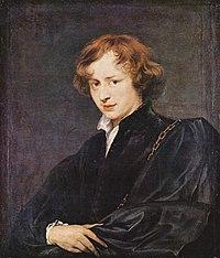 アンソニー・ヴァン・ダイク自画像 1620年頃~1627年頃 アルテ・ピナコテーク蔵