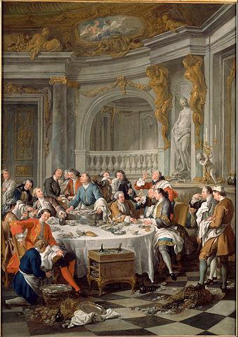 『牡蠣の昼食』 1735年 ジャン=フランソワ・ド・トロワ コンデ美術館蔵