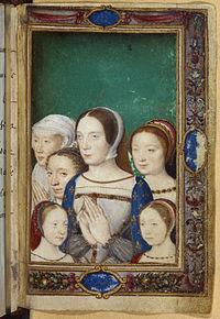 ルイ12世の長女でフランソワ1世妃だったクロード。1524年に死亡。