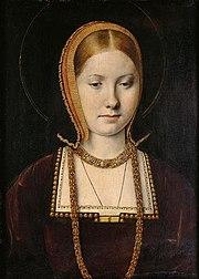 キャサリン・オブ・アラゴン(1487年12月16日ー1536年1月7日) ミケル・シトウ 1514年頃 美術史美術館蔵