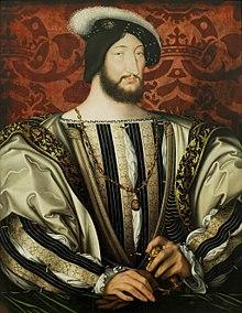 フランソワ1世の肖像画 1535年頃 ジャン・クルーエ ルーヴル美術館蔵