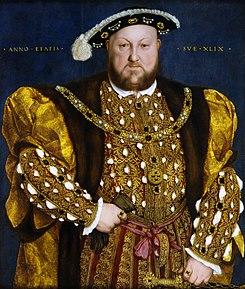 イングランド王ヘンリー8世(1491年ー1547年) 1540年 ハンス・ホルバイン(子) ローマ、国立絵画館蔵