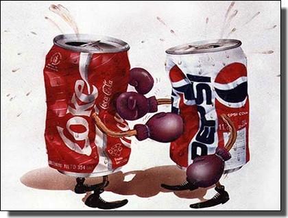 ペプシとコカ・コーラ