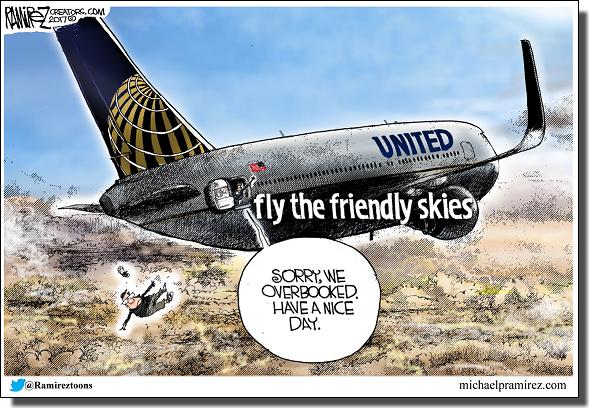ユナイテッド航空風刺画