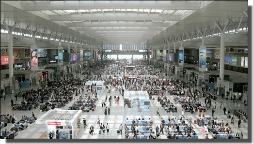 中国の新幹線の駅