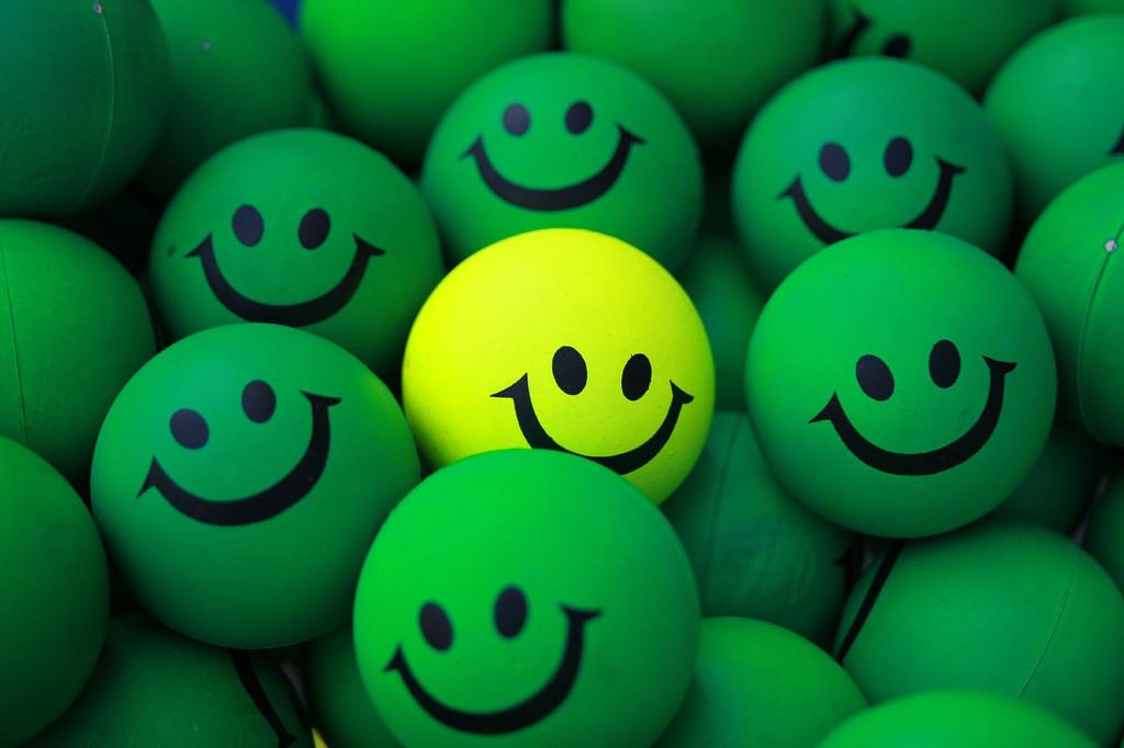 余裕の笑顔