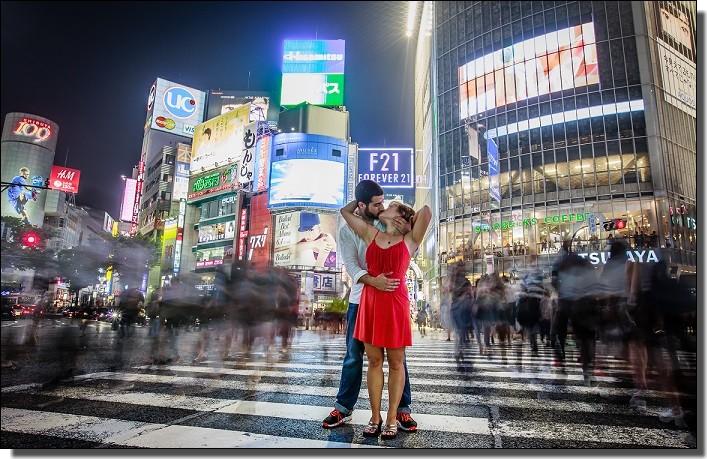 渋谷での海外の反応