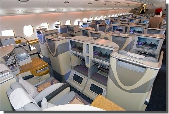 エミレーツ航空ビジネスクラス