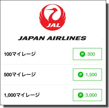 JALマイル交換レート
