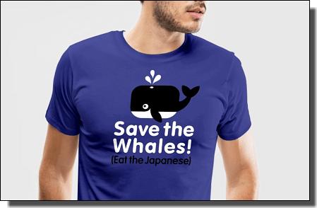 捕鯨Tシャツ