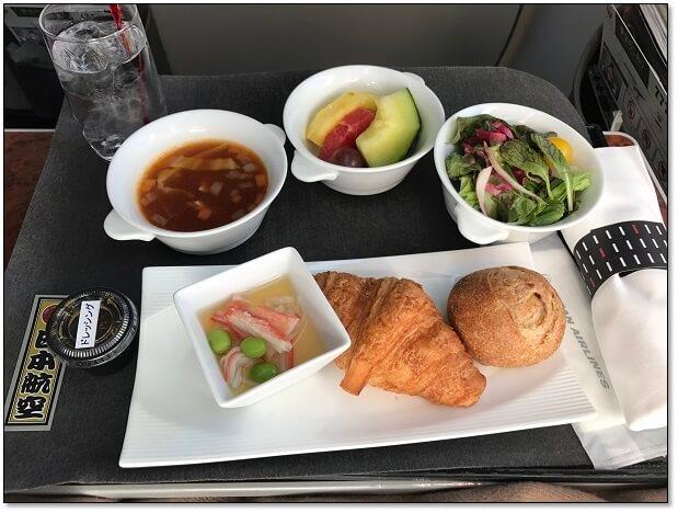 JAL国内線ファーストクラス機内食