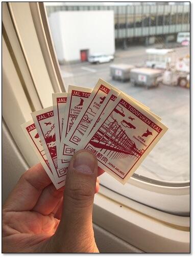 JALの都道府県切手シール