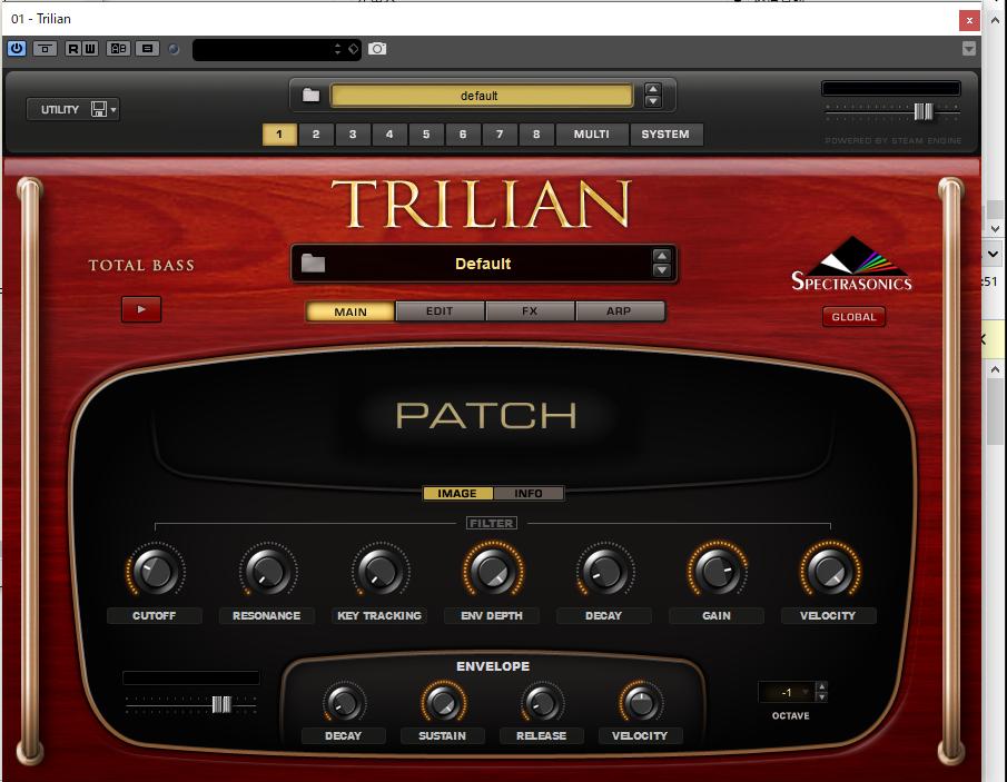 ベース音源Trillian,フリー音楽