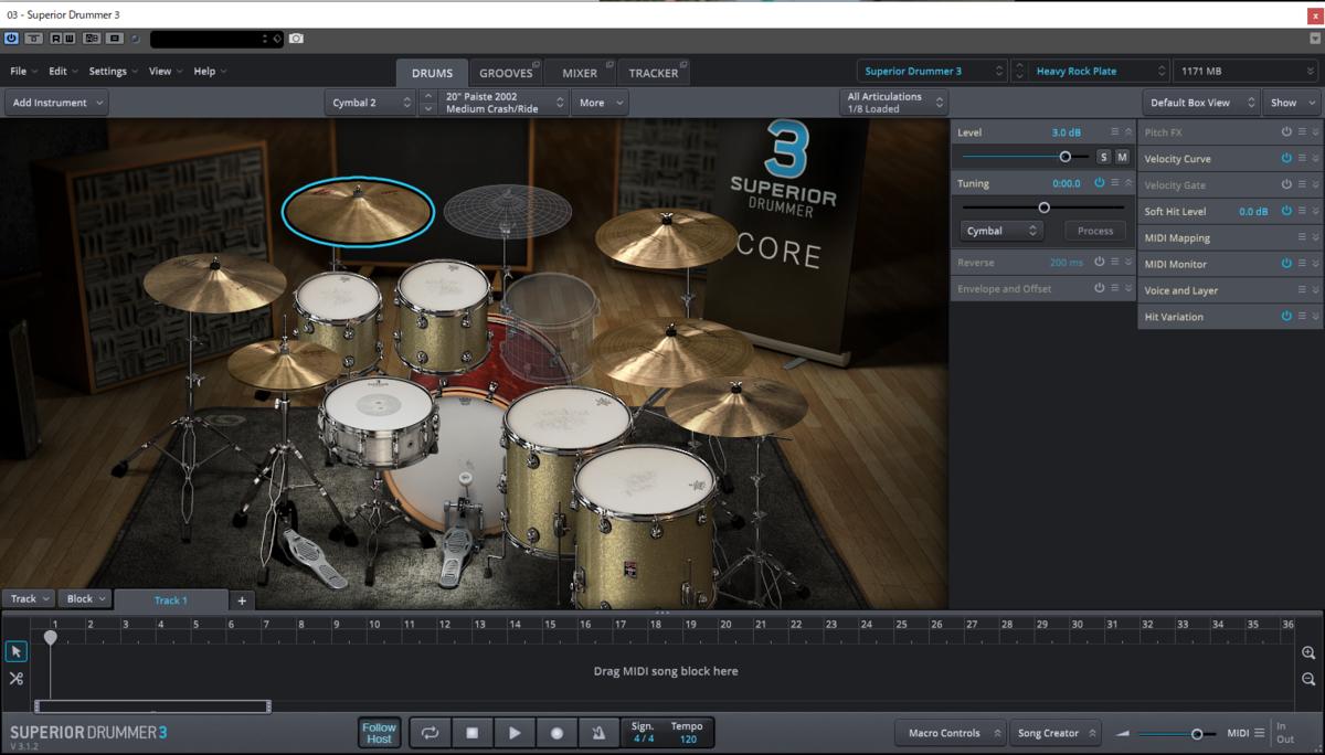 Superior Drummer3,スーペリアドラマー3,ドラム音源,フリー音楽