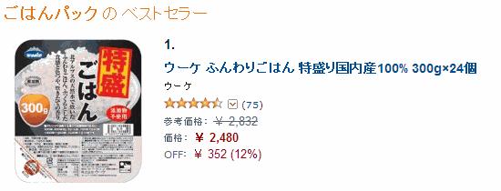 米の売れ筋ランキング