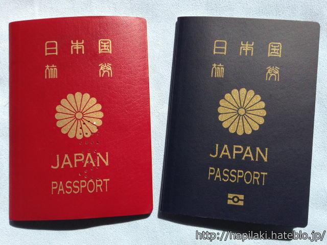 古いパスポートと新しいパスポート